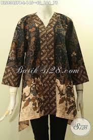 desain baju batik untuk acara resmi busana batik wanita kekinian blus batik kancing depan desain