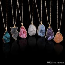 diy stone pendant necklace images Wholesale unground irregular natural stone pendant necklace jpg