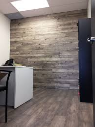 twilight maple laminate flooring installed on an office wall easy