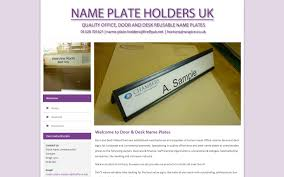 Desk Plates Door U0026 Desk Name Plates Traksigns Name Plate Holders Uk