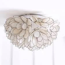 capiz flush mount light exceptional pair of capiz mother of pearl shell wall l or flush