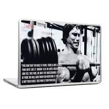 cool abstract motivation gym workout arnold this pain laptop cover