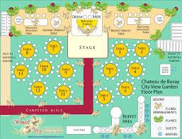 wedding reception floor and table plan garden wedding planning