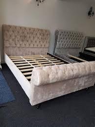 Santiago Bed Frame Fabric Bed Frame Single King Size King Size Bedstead