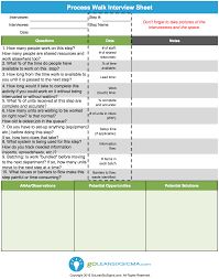 Take Sheet Template Process Walk Sheet Aka Gemba Walk Sheet