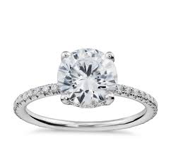 sapphire studios black moissanite white studio petite french pavé crown diamond engagement ring in