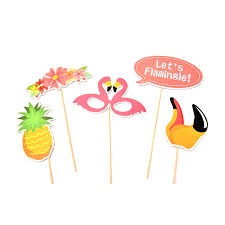Photo Booth Accessories Aliexpress Com Buy 21pcs Flamingo Tropical Summer Photo Booth