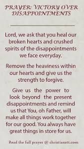 prayer victory disappointments corinthian lord and bible
