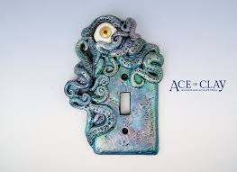 beach light switch covers watercolor octopus light switch cover with eye sculpture decor home