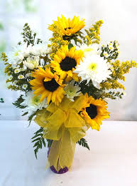 sunflower delivery same day delivery sunflower burst bouquet v 1126
