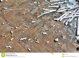 broken glass on a floor stock photography image 35131232