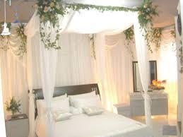 white bridal bedroom decoration using romantic european design