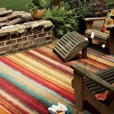 Patio Area Rug Mohawk Home Avenue Stripe Indoor Outdoor Rug Hayneedle