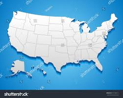 Unites States Map by United States America Map 3d Illustration Stock Vector 357349511