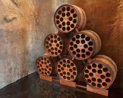 wine storage racks to make guests looked blank traba homes