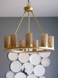 Painting Brass Chandelier How To Spray Paint A Light Fixture Dining Room Reveal Suburban