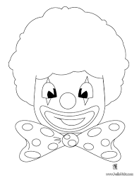 clown mask coloring pages hellokids com