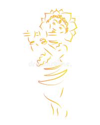 krishna janmashtami the birth of krishna silhouette of a deity