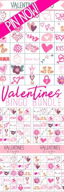 valentines bingo valentines bingo bundle free valentines day printables