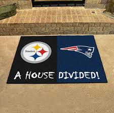 pittsburgh steelers new england patriots house divided mat
