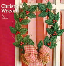 christmas wreath plastic canvas pattern instructions only from a