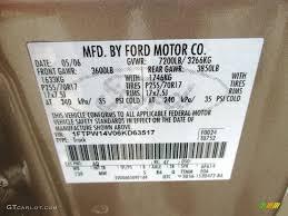 2006 ford f150 xlt supercrew 4x4 color code photos gtcarlot com
