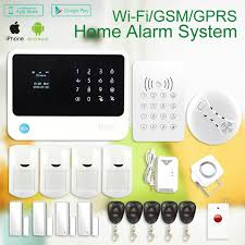 wireless wifi gsm sms home thief security system alarm iphone