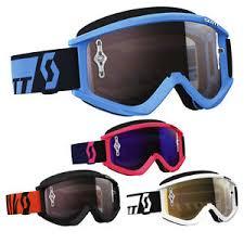 motocross goggles ebay scott recoil xi chrome lens mens off road dirt bike motocross
