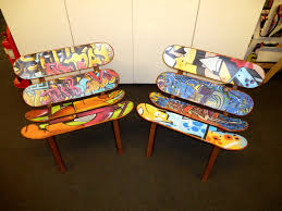 skateboard chairs vinyl printing for some funky skateboard chairs london mjcp