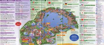 Orlando Parks Map by Theme Park Brochures Walt Disney World Epcot Theme Park Brochures