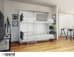 amore flat side folding wall bunks with desk expand furniture