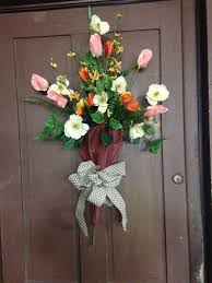 Easter And Spring Door Decorations by Front Door Decor Decorated Umbrella Spring Umbrella Tulips