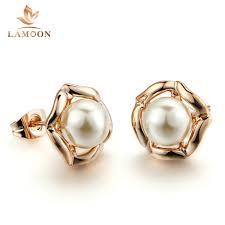 pearl earrings stud online get cheap gold pearl earrings stud aliexpress