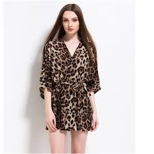 robe de chambre leopard peignoir léopard ultra en coton pour femme peignoir léopard