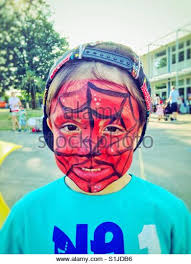 spiderman face paint stock photos u0026 spiderman face paint stock
