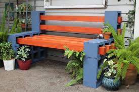 how to make a simple outdoor bench adhesive concrete and gardens