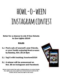 Zoo Lights Address by Howl O Ween Instagram Contest Reid Park Zoo
