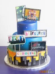 nyc broadway themed cake cmny cakes