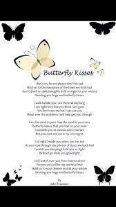 butterfly kisses reglion butterfly kisses and poem