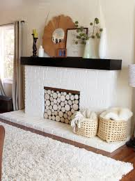 fake a stack of wood logs in your fireplace babble