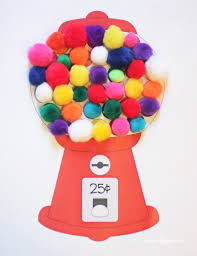 gumball machine color matching with craft pom poms repeat crafter me