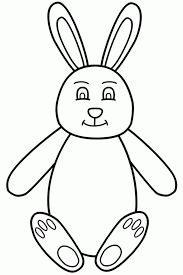 bunny coloring pages coloringmates printable easter bunny 287101