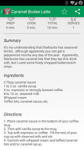 starbucks apk recipe guide for starbucks 1 0 3 apk android lifestyle apps