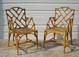 Hollywood Regency Dining Room by Vintage Chippendale Bamboo Rattan Chairs Vintage Pinterest