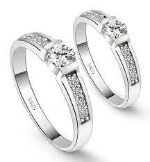 fashion couples rings images Fancy couple rings for lover 39 s korean style cz diamond high jpg
