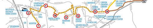 coc valencia map routes schedules city of santa clarita transit