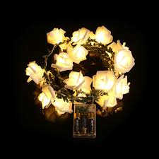 battery led string lights battery operated leaf rose flowers led string lights romantic