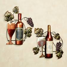 Grapes And Wine Home Decor Top 20 Of Wine Bottle Metal Wall