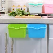 Cabinet Door Organizer by Cabinet Door Bin U0026 Diy Pull Out Trash Can In A Kitchen Cabinet