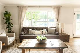 living room window treatments for large picture window living